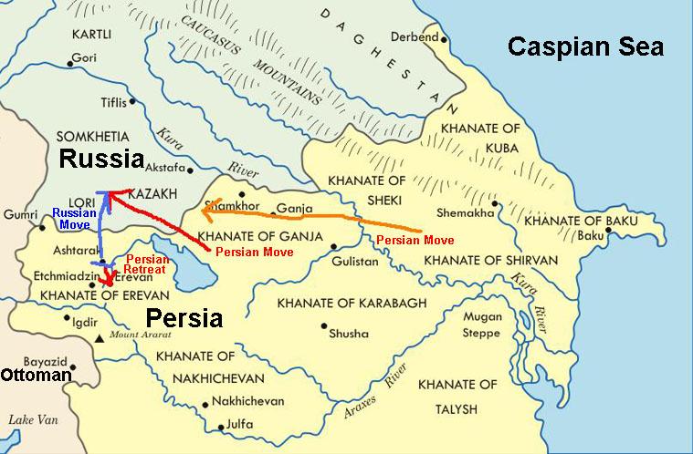 Iran Politics Club Iran Historical Maps Qajar Persian Empire - Map of us 1803