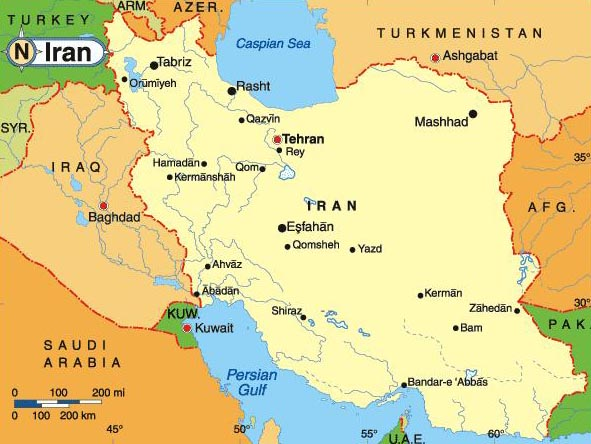Tehran Is The Capital Of Iran In The North Of The Countr - Map of iran