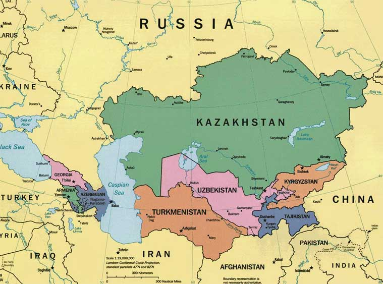 Political Map Of Central And Southwest Asia - Political Map Of North ...